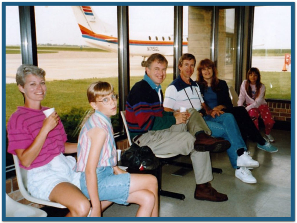 With adult cousins on my mother's side - at the tiny (very tiny) Spencer airport