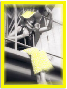 Sandy Walker (Hegwood) in her yellow polka-dot bell-bottoms