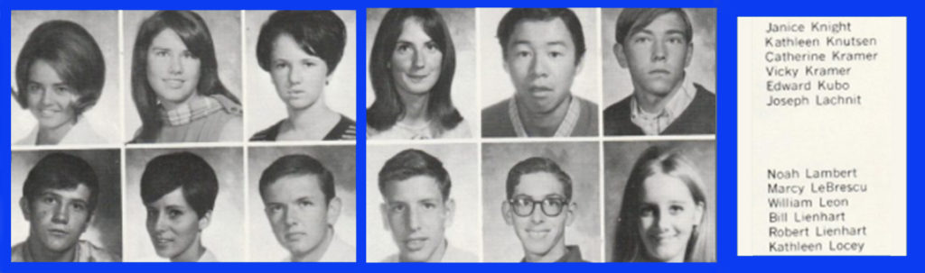 Three of the six female students pictured above, myself included, are named Kathy (Kathleen or Catherine)