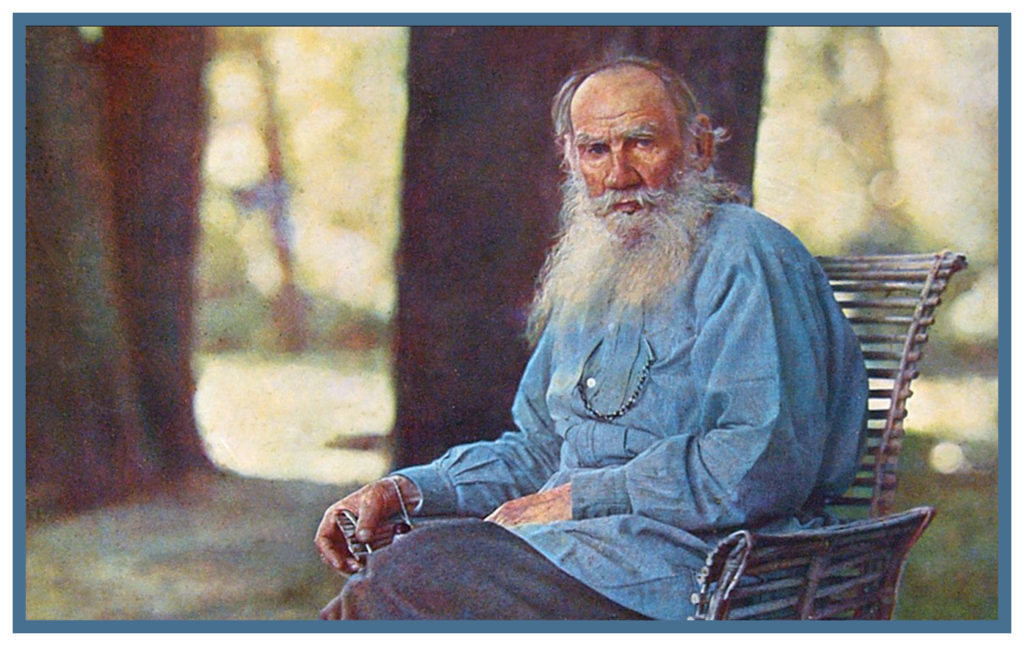 COUNT LEV NIKOLAYEVICH TOLSTOY, USUALLY REFERRED TO IN ENGLISH AS LEO TOLSTOY