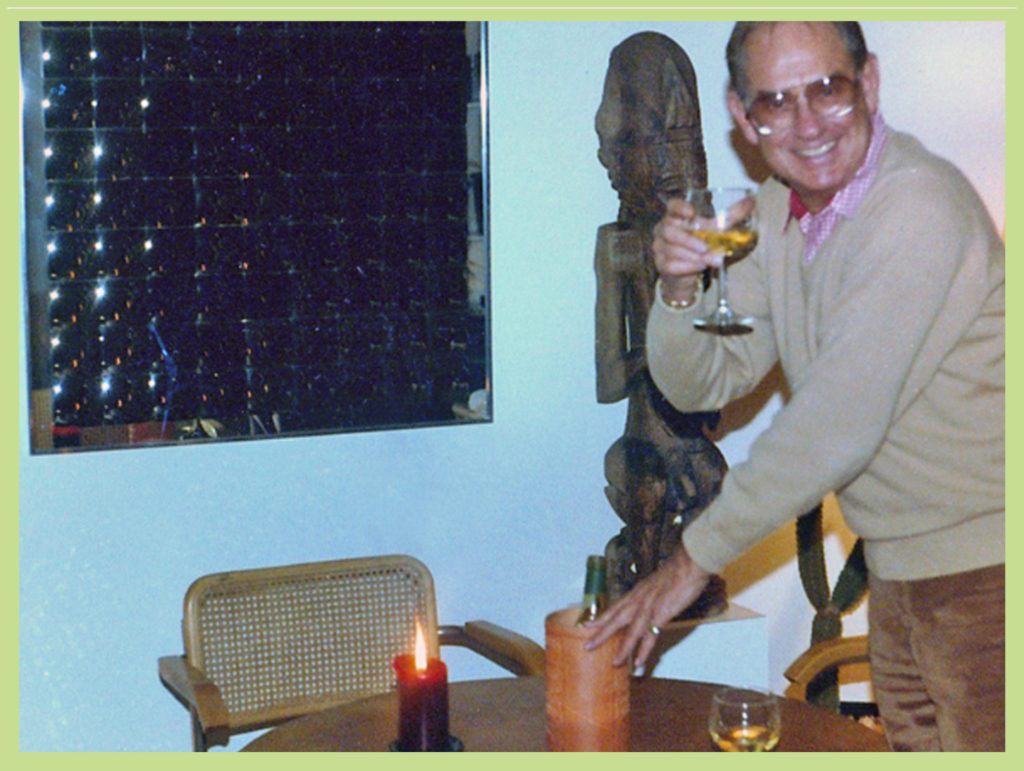 Bill Froug toasting at a dinner party