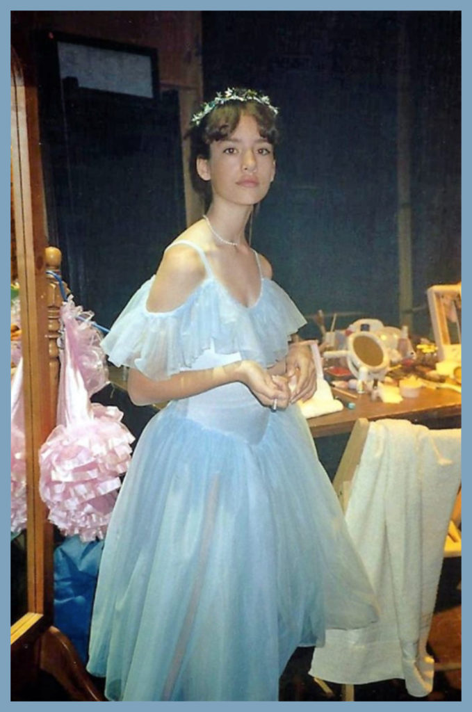 Sam played a ballerina (well, the ghost of a DEAD ballerina, to be specific) in one of my TV movies. This is as close as I got to a career in ballet although I saw a ballet once (at least until it put me to sleep.) But I've still got to give it up for the costumes!
