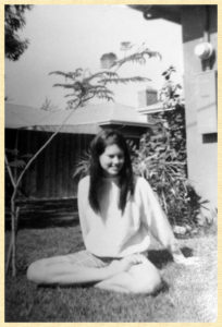 Me in our backyard in the sixties