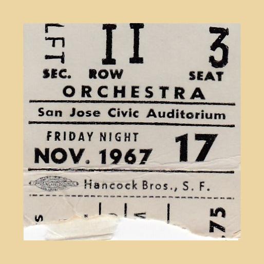 Ticket stub for the Simon and Garfunklel concert
