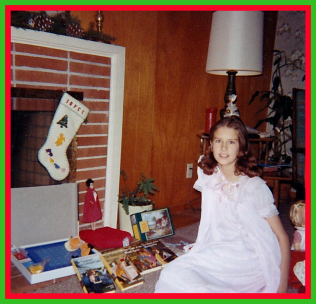 With my Christmas presents that year.