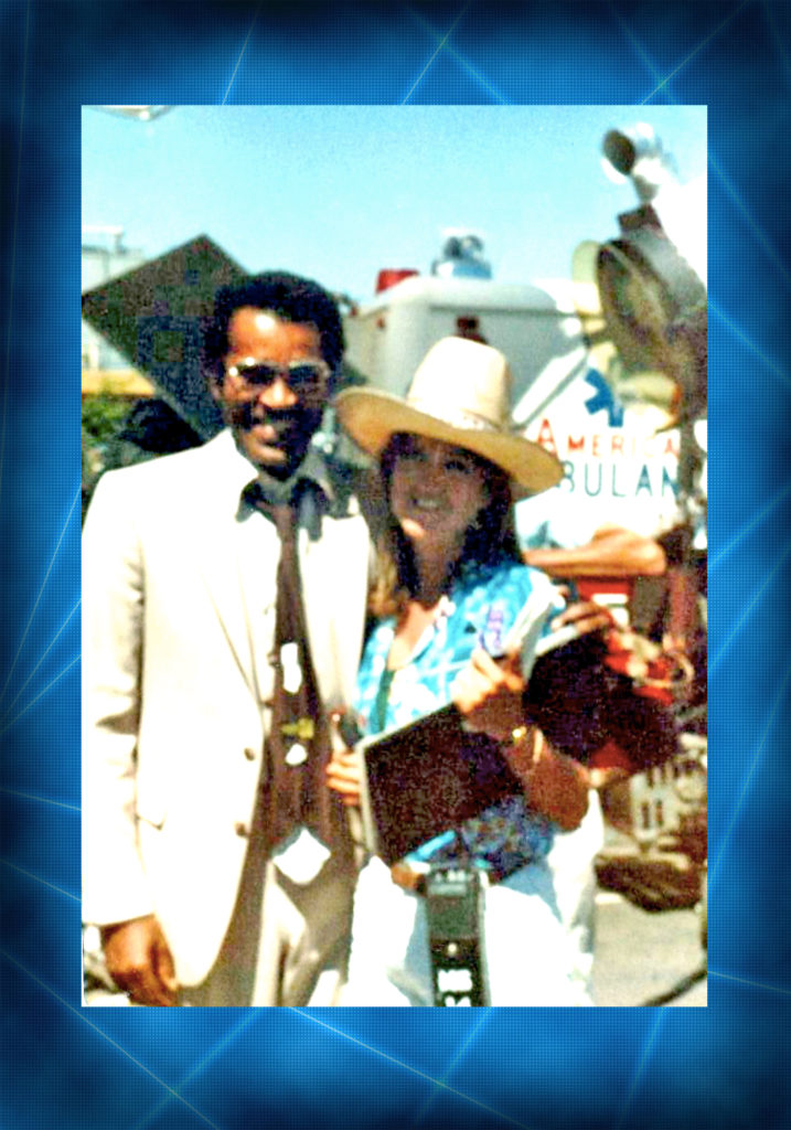 """Janet with Ben Vereen on the set of one of the early shows she worked on, """"VEGAS""""."""