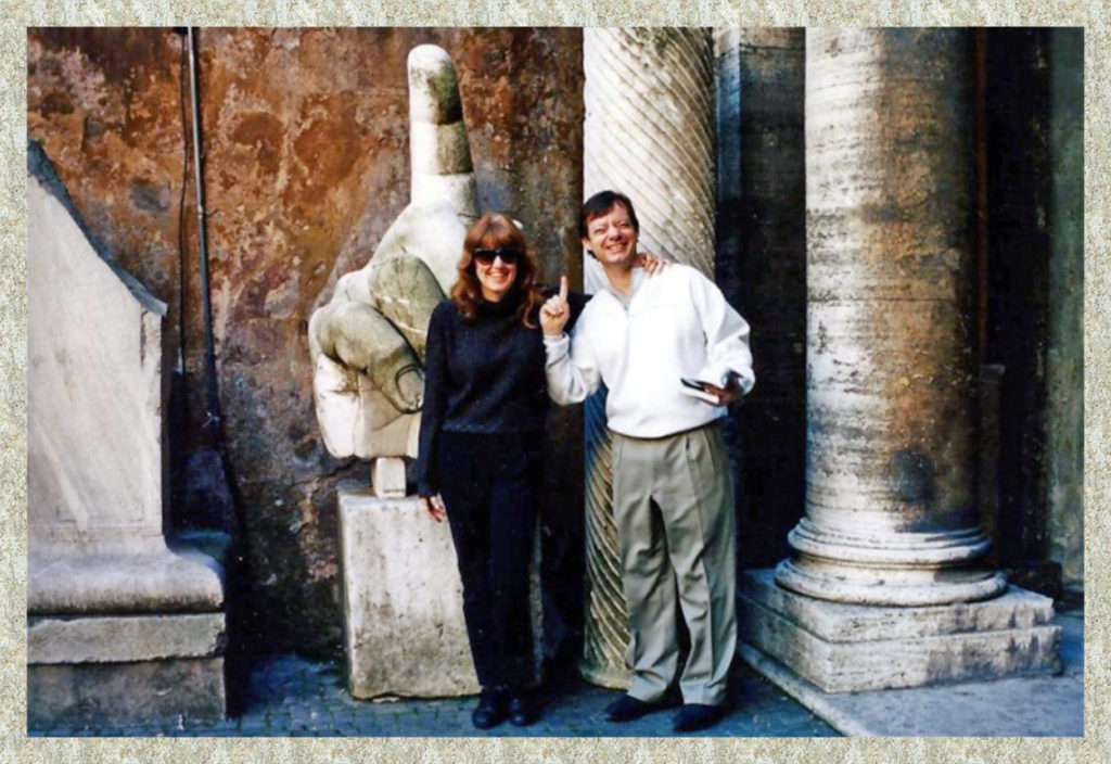 J and I in Rome before our Thanksgiving trip to Florence
