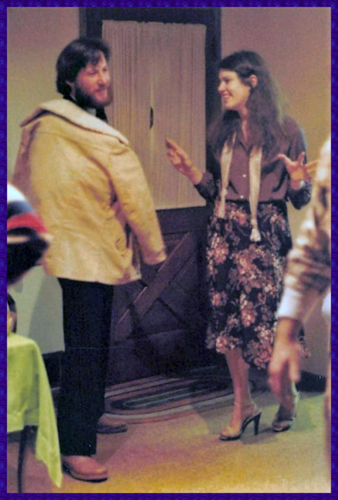 A party we had while I was immersed in Lirol, attended by many Lirol people - although in my only photo I'm talking to Michael Wasserman, a fellow UCLA film school alum and good friend. Yeah, I know, my outfit and shoes are dorky, but give me a break - it was 1978.