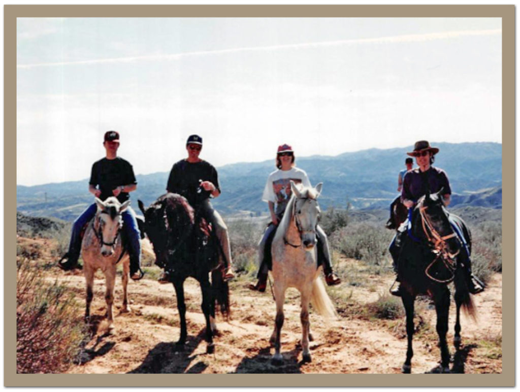 Charlie, John Rowell, Gale Ann Hurd, Martha Coolidge on Paso Finos at Castaic