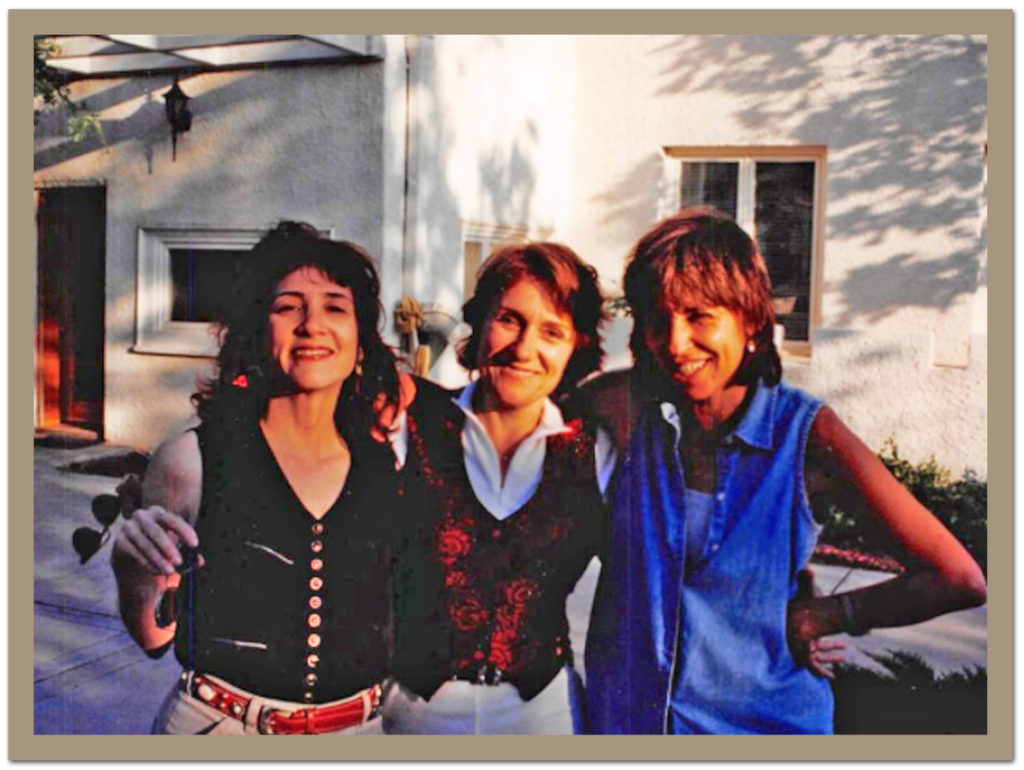 Linda Fefferman, Martha Coolidge, Eva Gardos at the Agua Dulce ranch