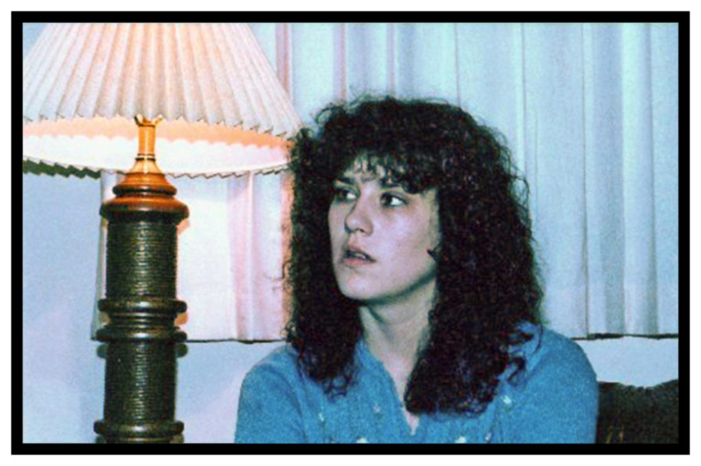 "A major component of my ""disguise"" was big frizzy 80s hair (to deflect attention from my face)"