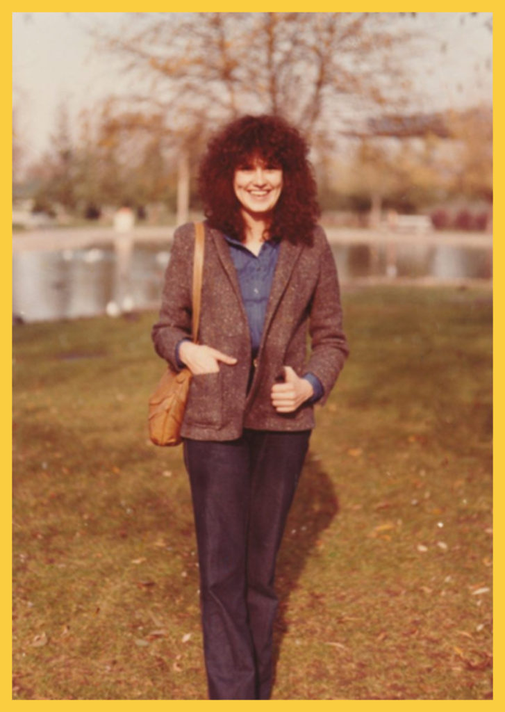 Disguised as high school student for my return enrollment at Wilcox in 1981. I hoped the huge hair would draw attention away from my face.