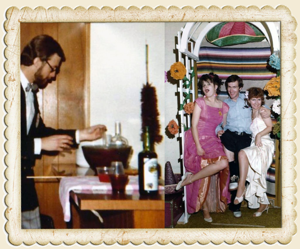 Don't judge Mr. Hulstrom too harshly. You'd be drinking too if you had to chaperone this thing. The photographer gets frisky with Joyce Salter and Denise Gail Williams.