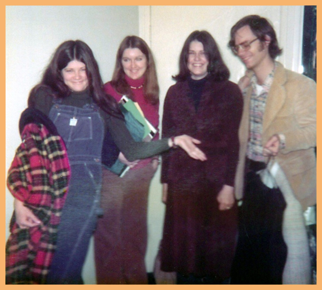 J and I with my sisters Joyce and Janet sometime in '76 (before pregnancy).