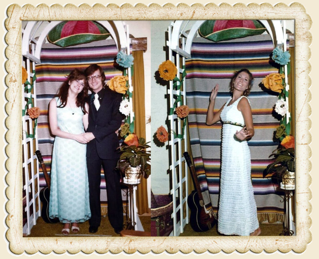 John and I in Mexico-themed photo booth with Co-hostess Anne Kurrasch