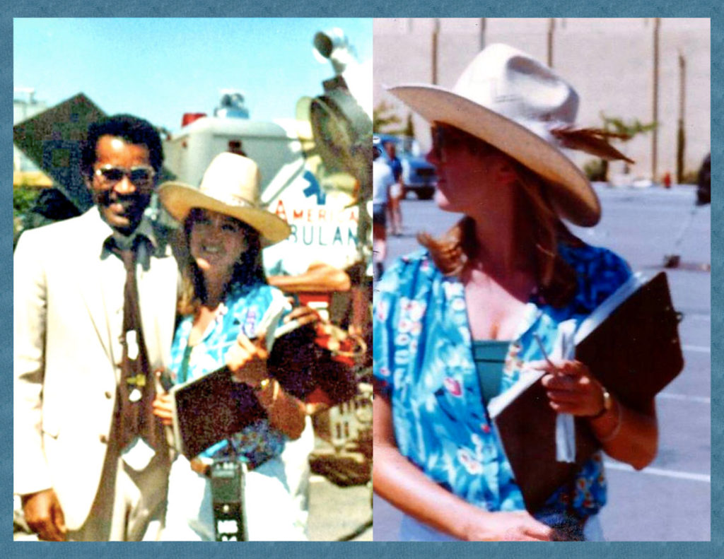 Janet on the set of VEGAS TV series with Ben Vereen