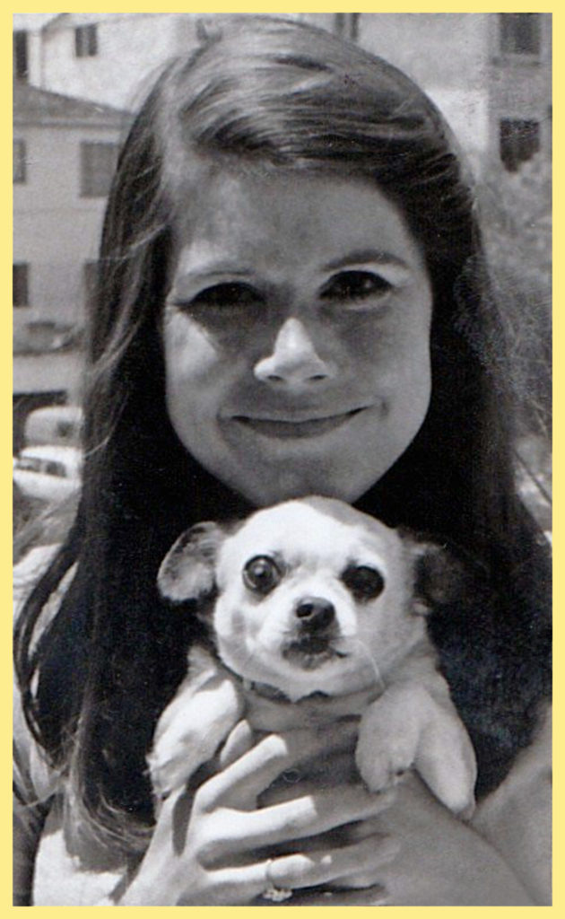 Marjorie with her little dog Pepe
