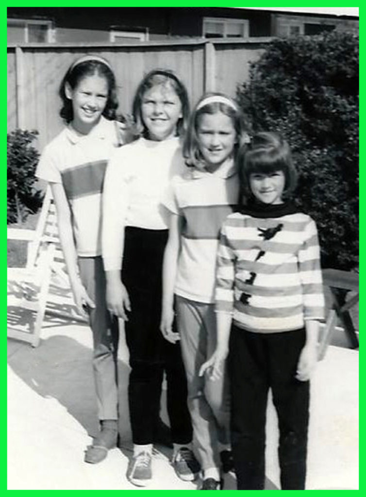 The four of us in 1964 - From the left, Me, Natalie, Janet & Joyce