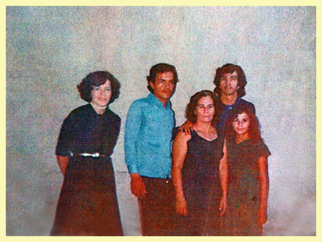 Young Yolanda, far left, with her two brothers and sisters