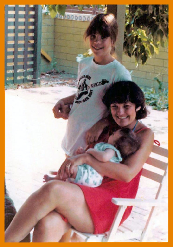 My friend Gailya Melchoir with stepdaughter Mindy and son Brandon, 1970s