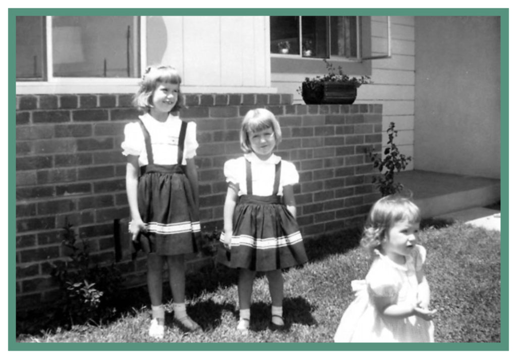 The three Knutsen sisters in August of 1957