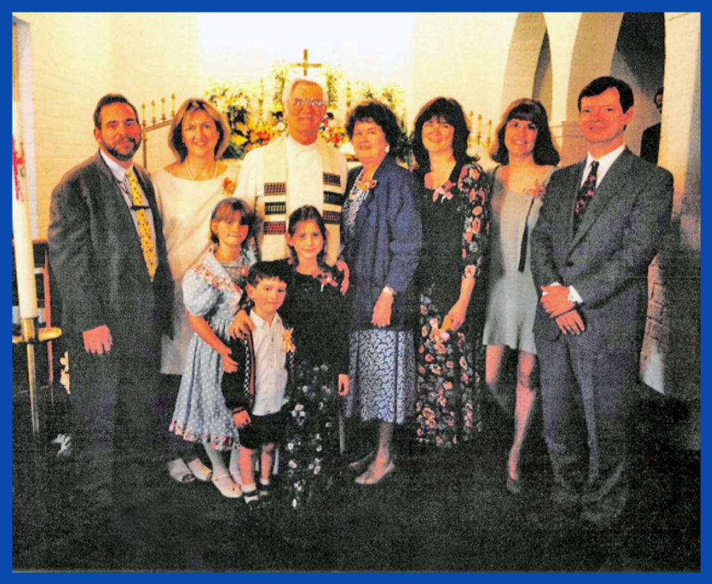 An earlier partial family Easter portrait at Salem Lutheran.