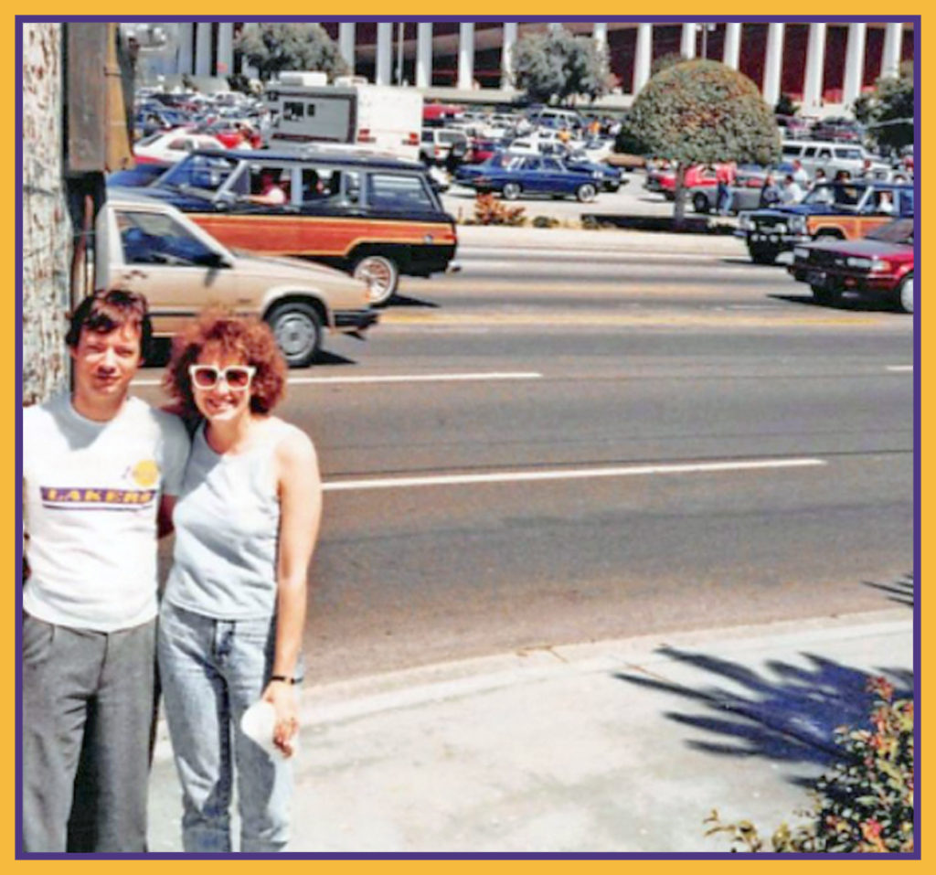 John and me in front of the Forum.