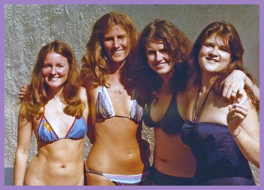 Mary Bennett deNove, Anne Kurrasch, me, Joyce Salter