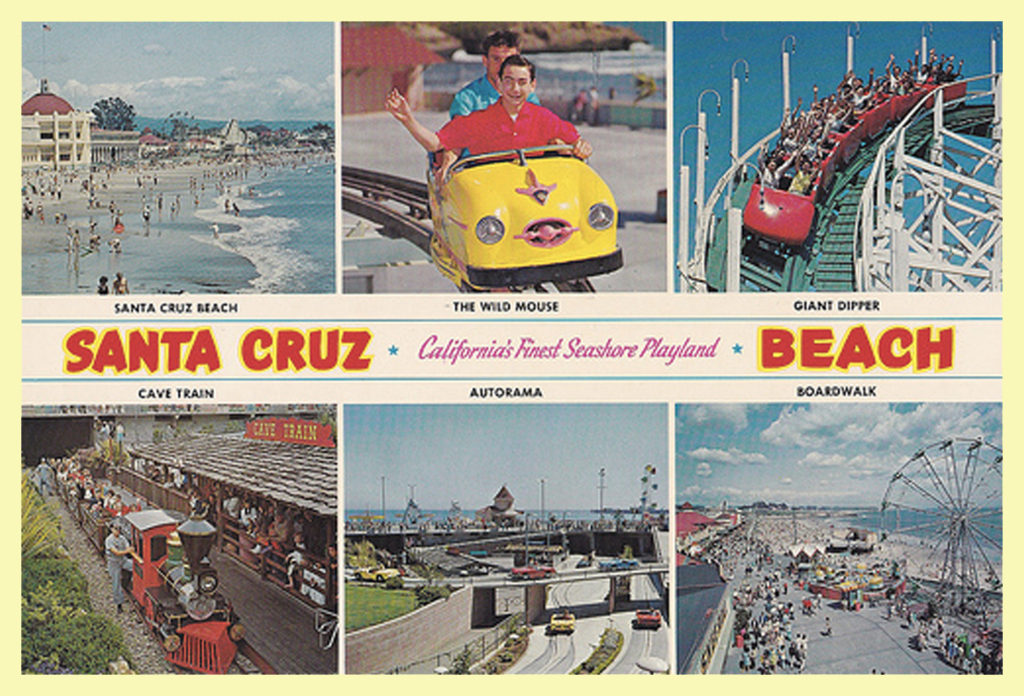 Santa Cruz Beach postcard