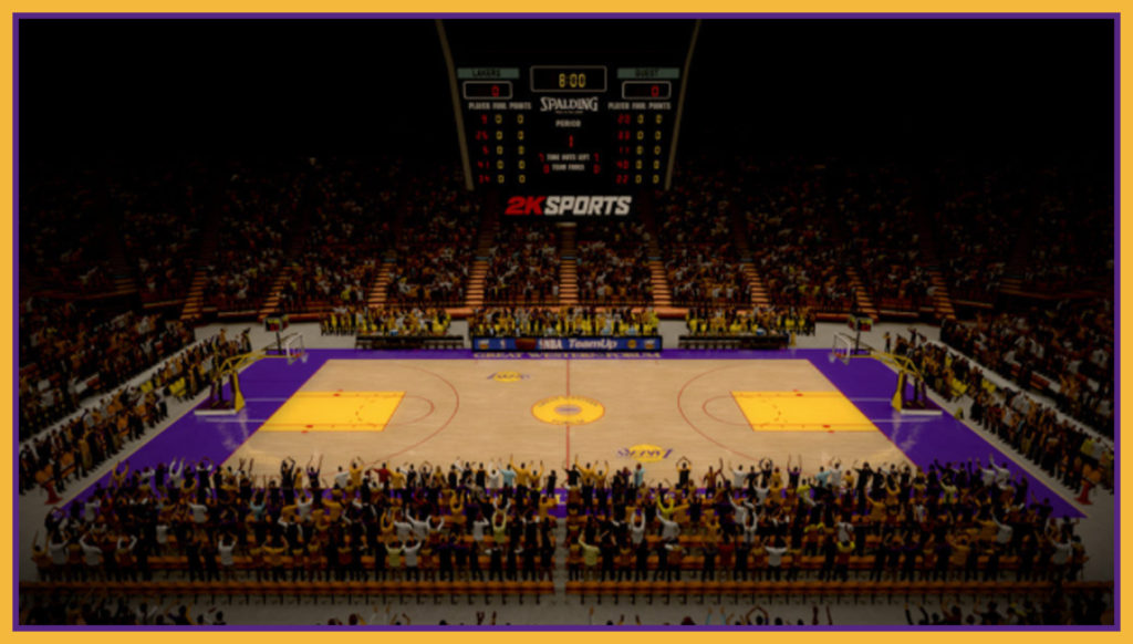 The Forum basketball court