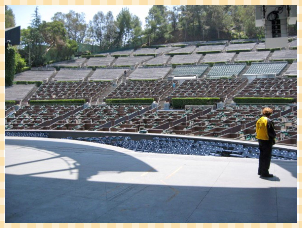 View from the stage of the Hollywood Bowl