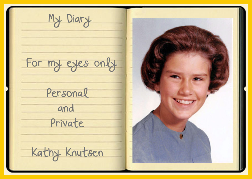 The picture in the front of that diary - still hideous after all these years.