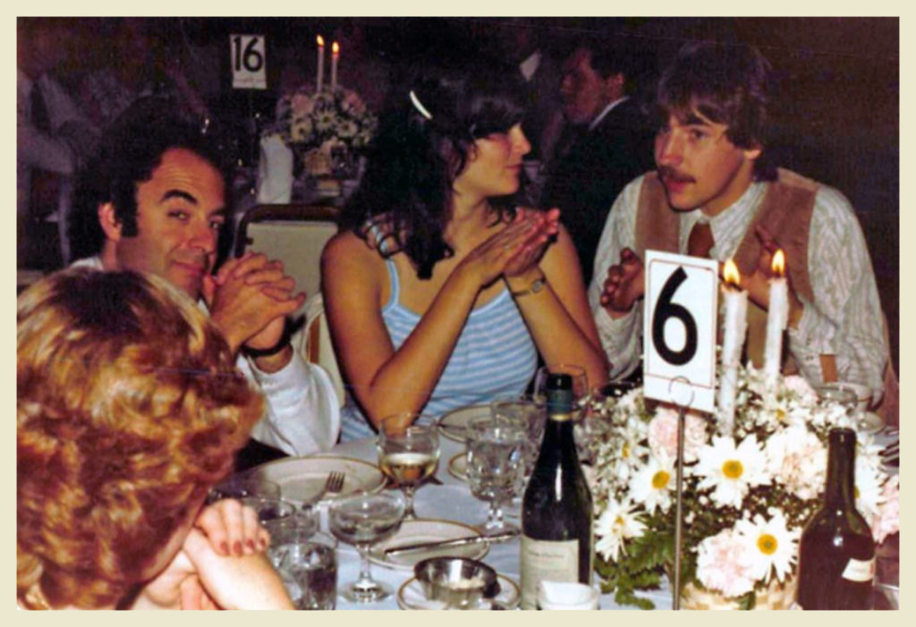 Robert Lovenheim, Joyce and John Salter at table #6