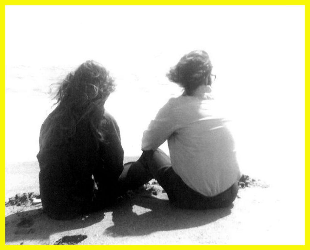Mary and Luke on the Santa Monica beach, 1969