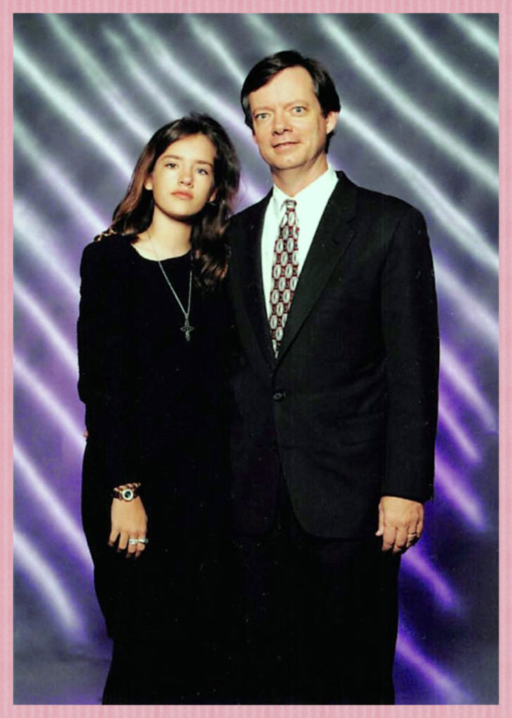 My daughter with her father at her Father-Daughter high school dance.