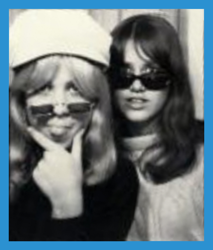 Sandy Walker in John Lennon style Beatles cap with me