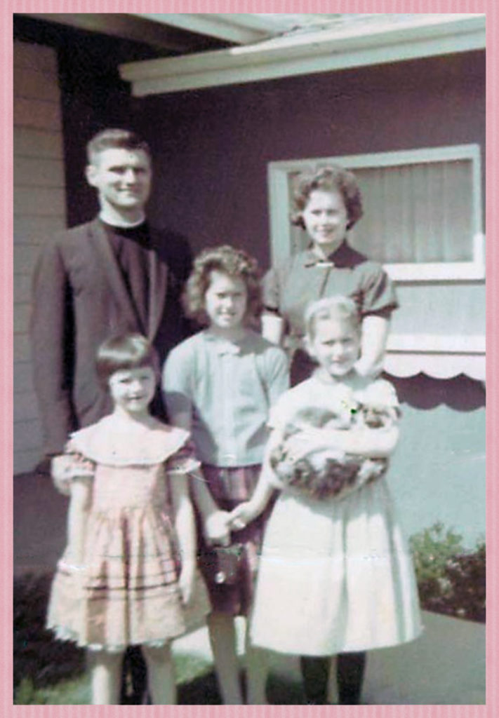With my nuclear family around this time.