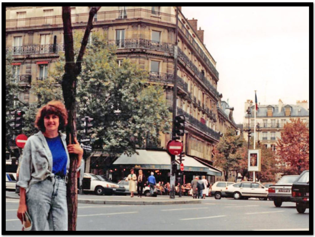 Me, streetside in Paris