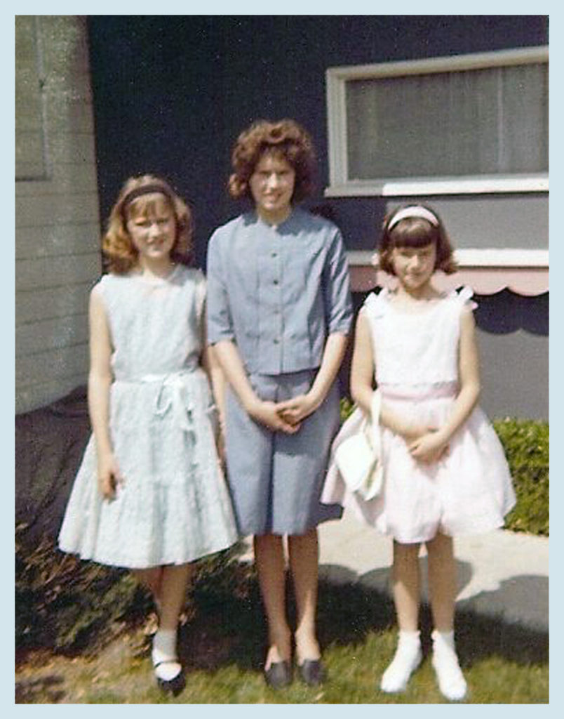 With my sisters, circa 1965