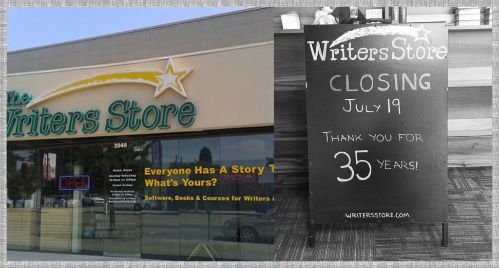 Very sad when the Writers Store closed