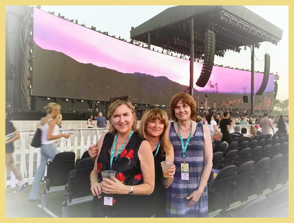 The three of us K Girls at Desert Trip