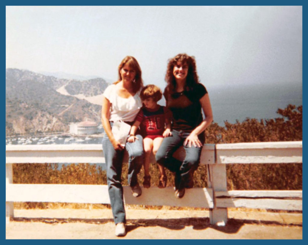 With Mom and Aunt Janet exploring Catalina Island