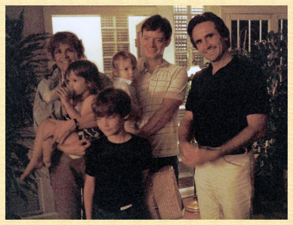 My family at Janet's house along with Larry Payne