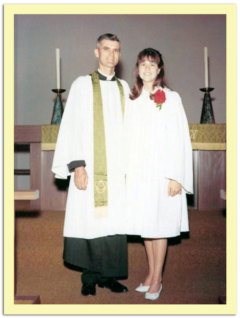 My father and I on my Confirmation Day.