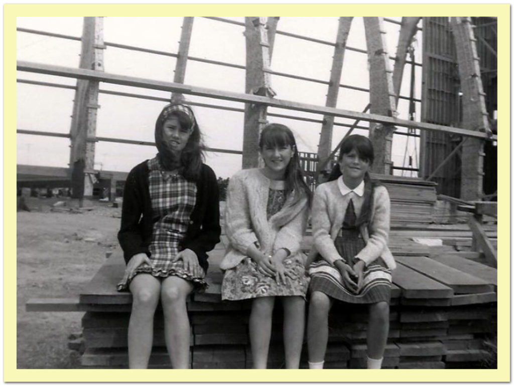 With sisters during construction of Hope Lutheran in 1966.