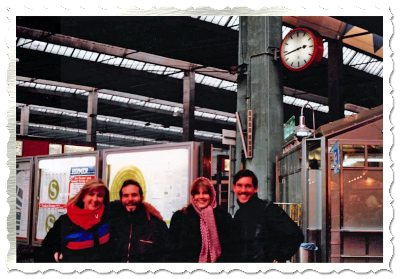 Janet, Jim, Me, Matt, at Train Station in Munich