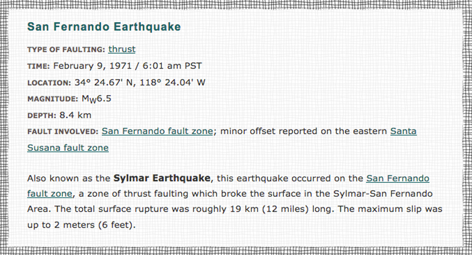 San Fernando Earthquake