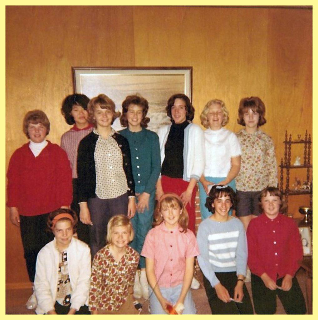 Top: Natalie Nilsen, Susan Tanaka, Donna Duncan, me, Loretta Dirks, Julie Farnham, Sandra Walker (Hegwood) Bottom: Debbie Neel, Kathy Niebuhr, Janet, Roseanne Provenzano, Susan Campbell