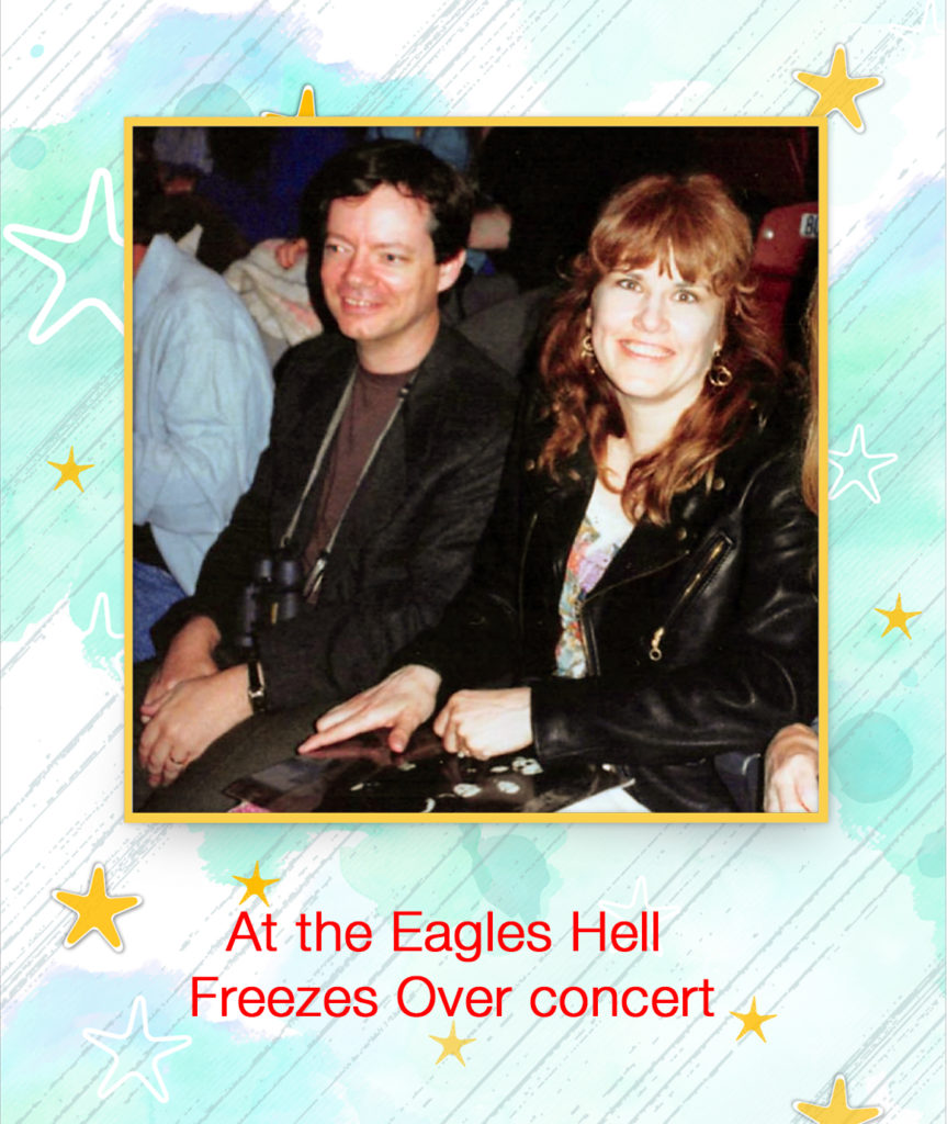 At the Eagles Hell Freezes Over concert