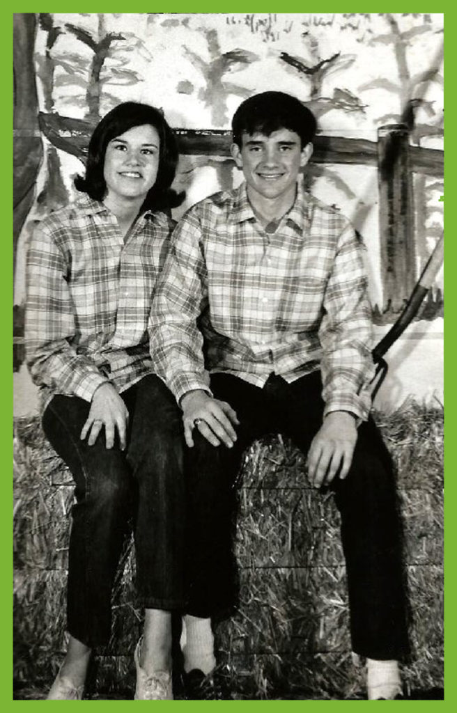 Kathy & Lewis at Sadie Hawkins April 1968